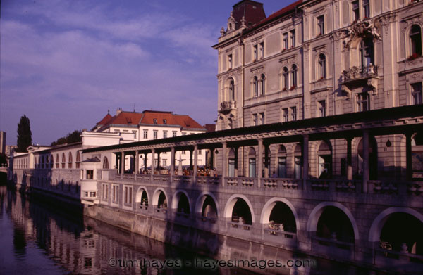 Slovenian River and Market